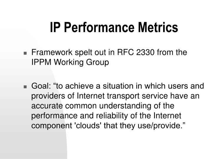 IP Performance Metrics