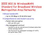 ieee 802 16 wirelessman standard for broadband wireless metropolitan area networks
