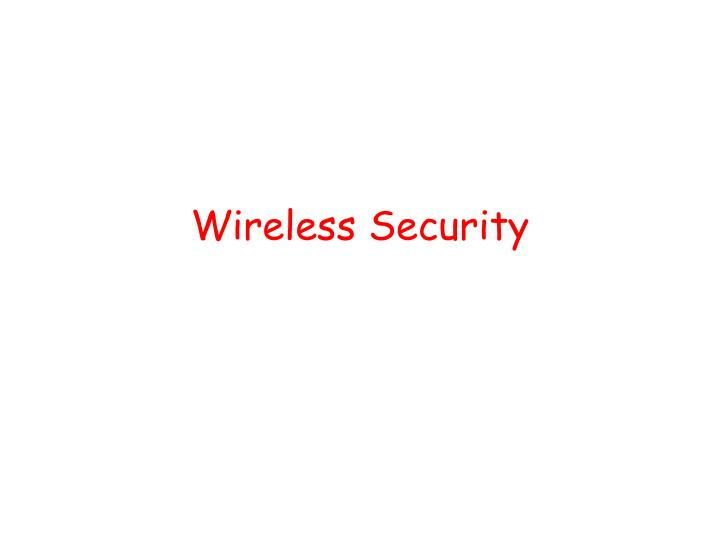 wireless security n.