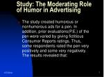 study the moderating role of humor in advertising
