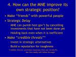 4 how can the mne improve its own strategic position
