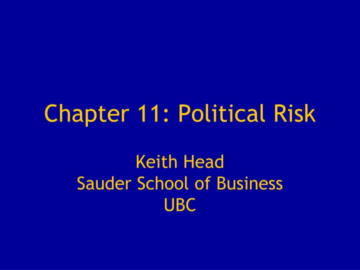 chapter 11 political risk n.