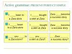 active grammar present perfect simple