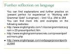 further reflection on language