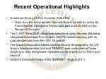 recent operational highlights1