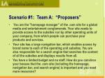 scenario 1 team a proposers