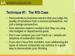 technique 1 the roi case1