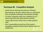 technique 4 competitive analysis1