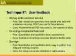 technique 7 user feedback1