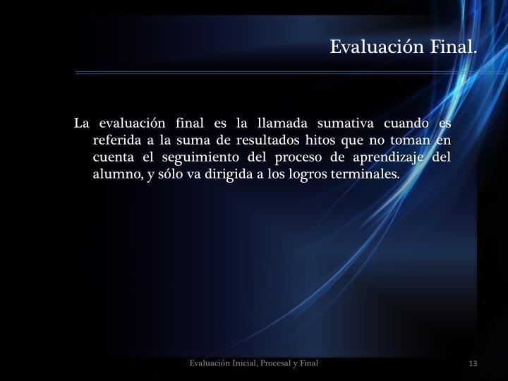 Evaluación Final.