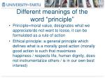different meanings of the word principle