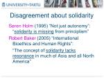 disagreement about solidarity1