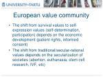 european value community