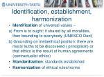 identification establishment harmonization