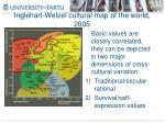 inglehart welzel cultural map of the world 2005