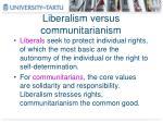 liberalism versus communitarianism