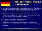 fast food modelli ambigui germania