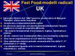 fast food modelli radicali uk