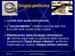 origini politiche
