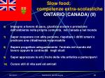 slow food competenze extra scolastiche ontario canada ii