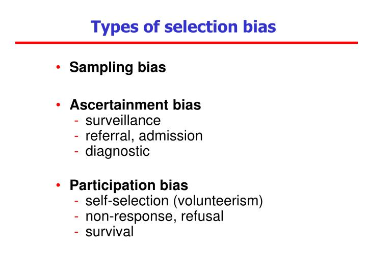how does selection bias impact the results of a case control study Selection bias as long as the selected exposed group is being  main sources of bias in cohort studies study design source of bias  clinical epidemiology.