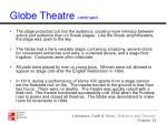 globe theatre continued