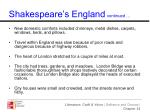 shakespeare s england continued
