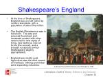 shakespeare s england