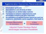 agglomeration economies reconsidered