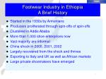 footwear industry in ethiopia a brief history