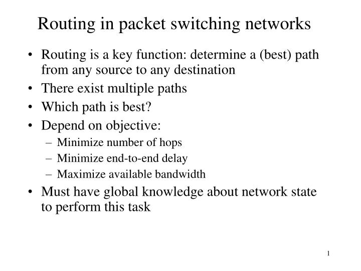 routing in packet switching networks n.