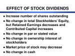 effect of stock dividends