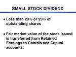 small stock dividend