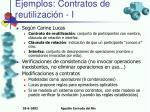 ejemplos contratos de reutilizaci n i