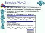 ejemplos wavex i