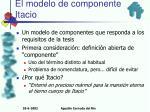 el modelo de componentes itacio