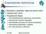 expresiones restrictivas