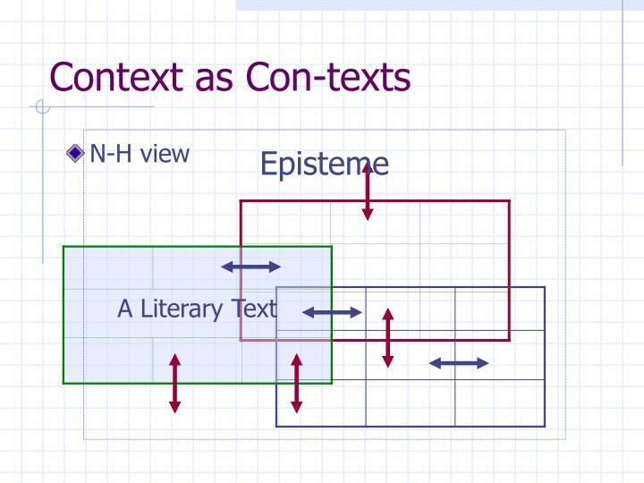 Context as Con-texts