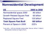 nonresidential development
