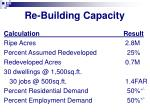 re building capacity