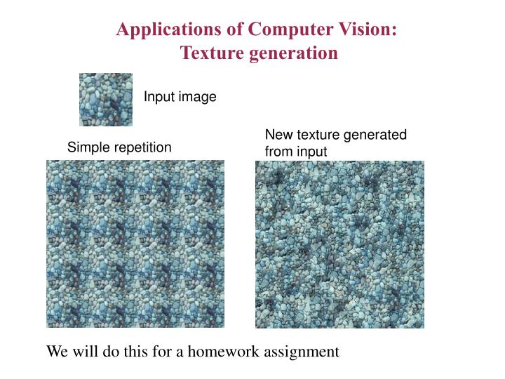 Applications of Computer Vision: