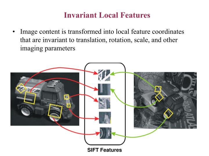 Invariant Local Features