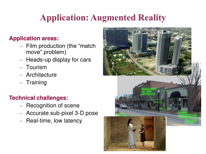 Application: Augmented Reality