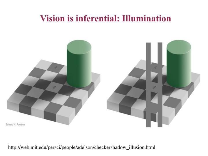 Vision is inferential illumination