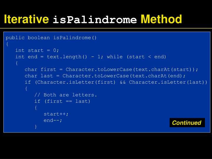 Iterative