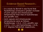 evidence based research 10 fluidotherapy