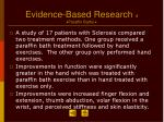evidence based research 4 paraffin baths
