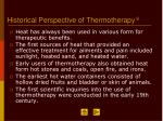 historical perspective of thermotherapy 8