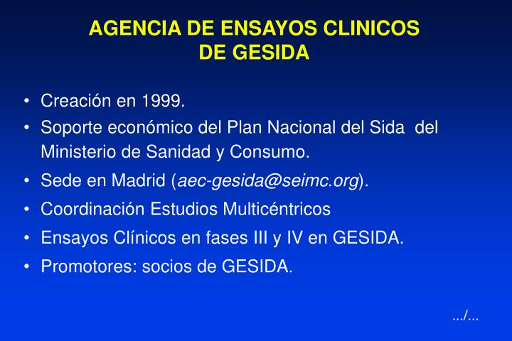 AGENCIA DE ENSAYOS CLINICOS