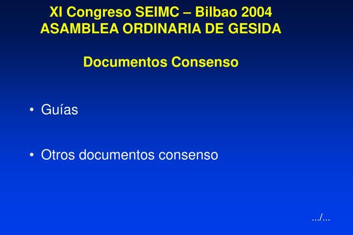 XI Congreso SEIMC – Bilbao 2004